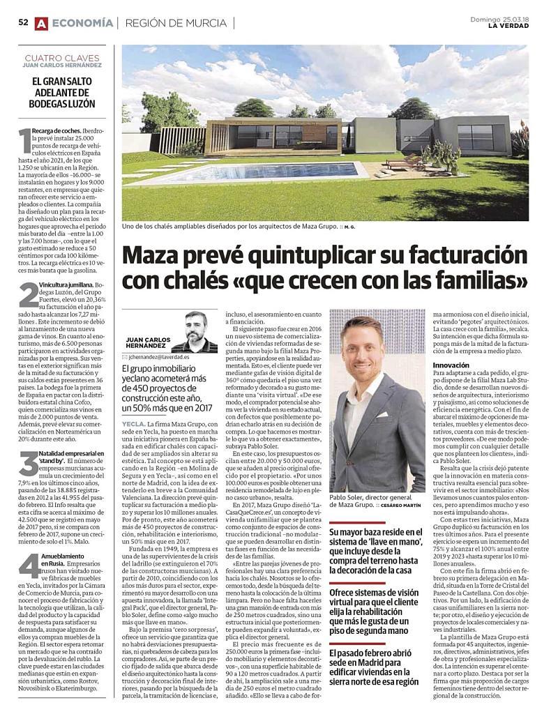 Entrevista Pablo Soler, director general de MAZA Grupo, en Diario La Verdad