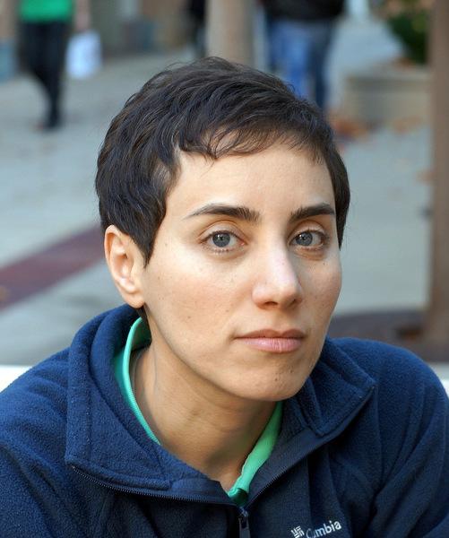 Mirzakhani en una foto de la Stanford University