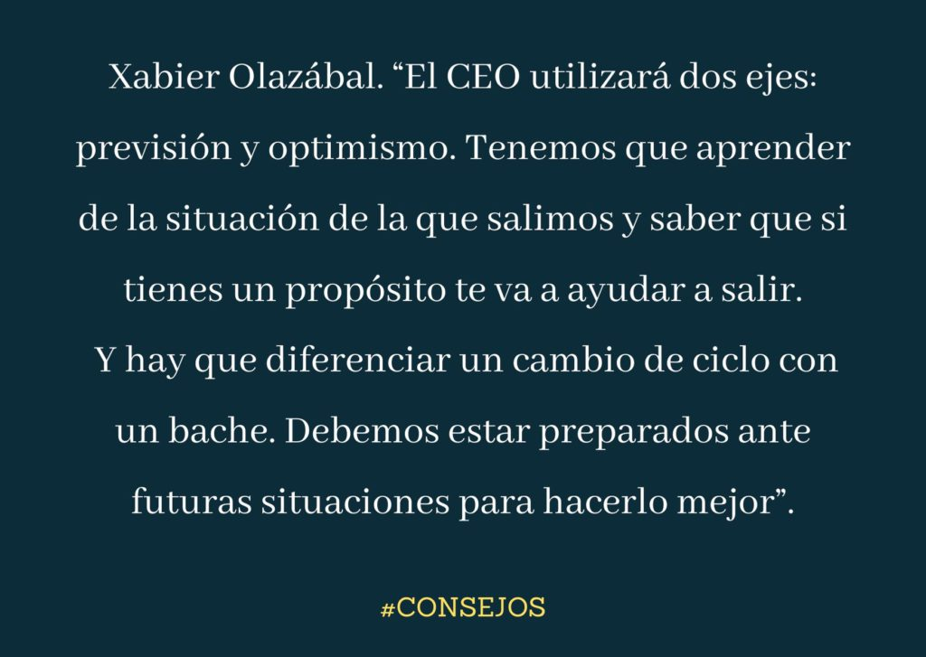 Xabier Olazábal CEO de Publicis Communications Spain aconseja previsión para futuras crisis y optimismo